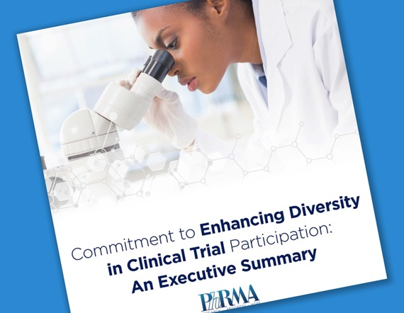 A teaser image featuring the cover graphics from the executive summary of PhRMA's Principles on Conduct of Clinical Trials