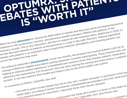 "OptumRx: Sharing Rebates with Patients is ""Worth It"""